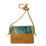 Leather & Linen crossbody bag