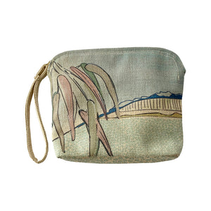 Falling Leaves Linen Clutch Bag