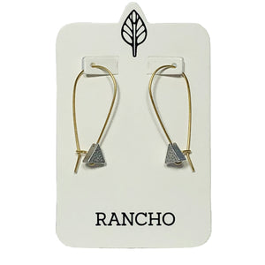 triangle long wire earrings