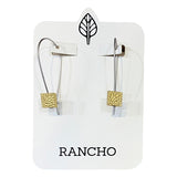 square long wire earrings