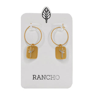 NEW Small Square Seedling Hoop Earrings