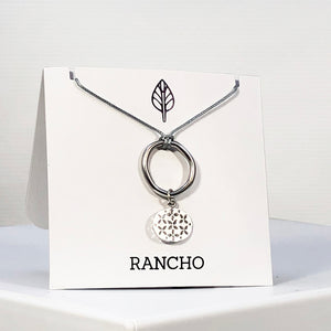 Ring and Oval Charm Necklace