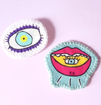 Broches Olho-Boca