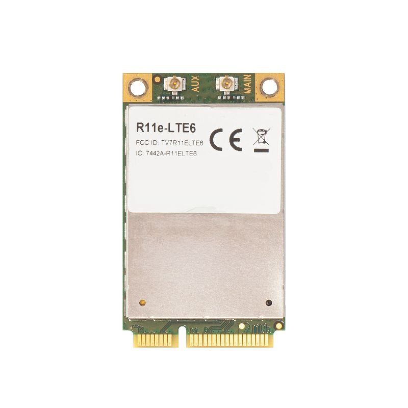 R11e-LTE64G/LTE miniPCI-e card with CA (up to 300 Mbps)