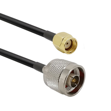 LMR-400 Coax, N-Male to RP-SMA-Male Cable