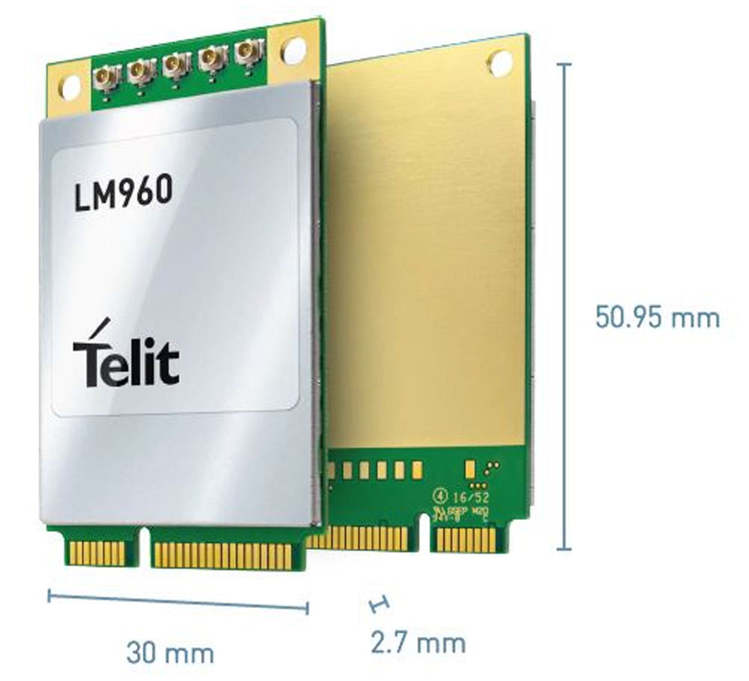 Telit LM960A18 4x4 MIMO LTE Cat18 PCIe Module