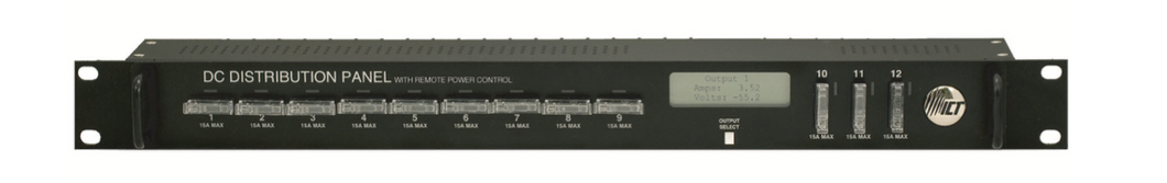 Broadband DC Distribution Panel for +48VDC with Remote Power Control, SNMP, site monitoring