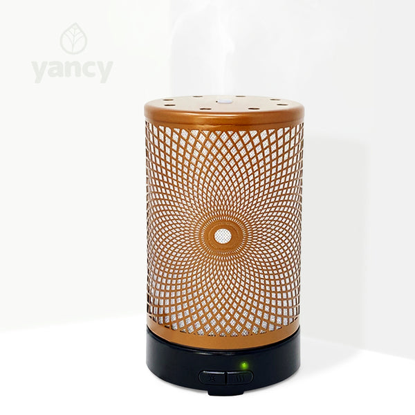 90313 - Metal Ultrasonic Aroma Diffuser Bronzed finish 100ml - New!