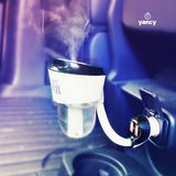 Car Diffuser & Humidifier - 50ml - with 2 USB Charging Ports BLACK / BEIGE / PURPLE - New!