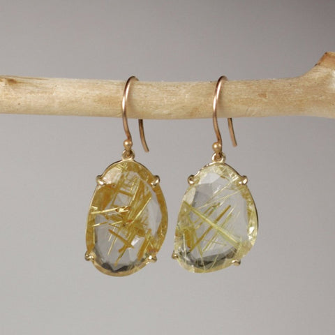 Wabi Sabi Rutile Earrings