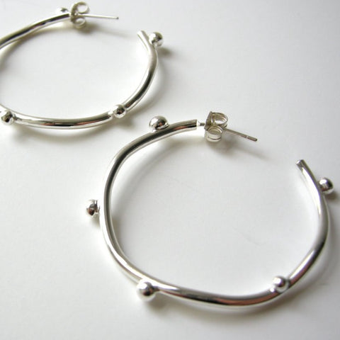 Bud Hoop Earrings