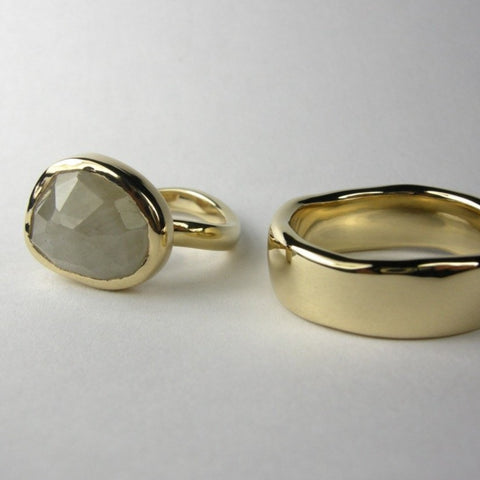 Wabi Sabi Wedding Rings