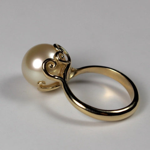 South Sea Love Scrolls Ring