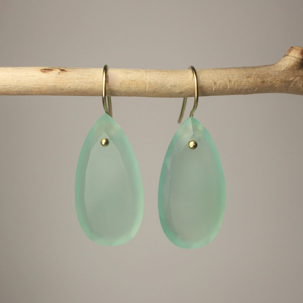 Earth Element Green Drop Earrings