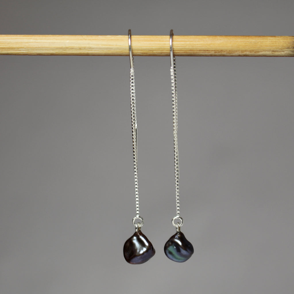 Petites Black Dangle Earrings
