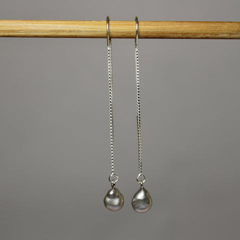 Petites Grey Dangle Earrings