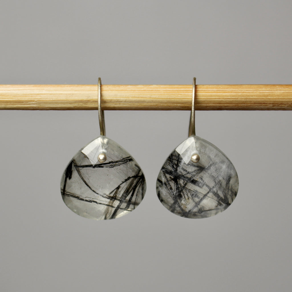 Rutilated Quartz Pear Shaped Dangles