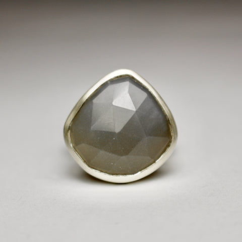 Large Grey Moonstone Ring