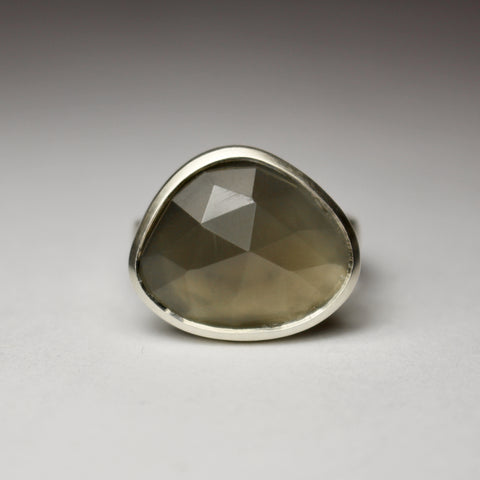 Medium Grey Moonstone Ring