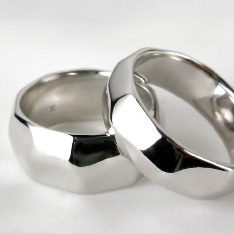 Facet Wedding Bands