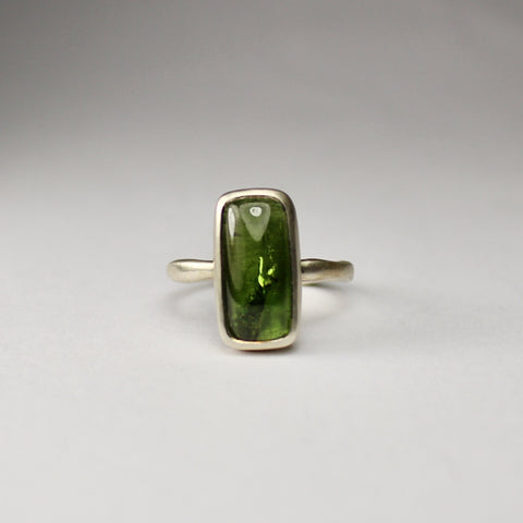 Rectangle Tourmaline Ring