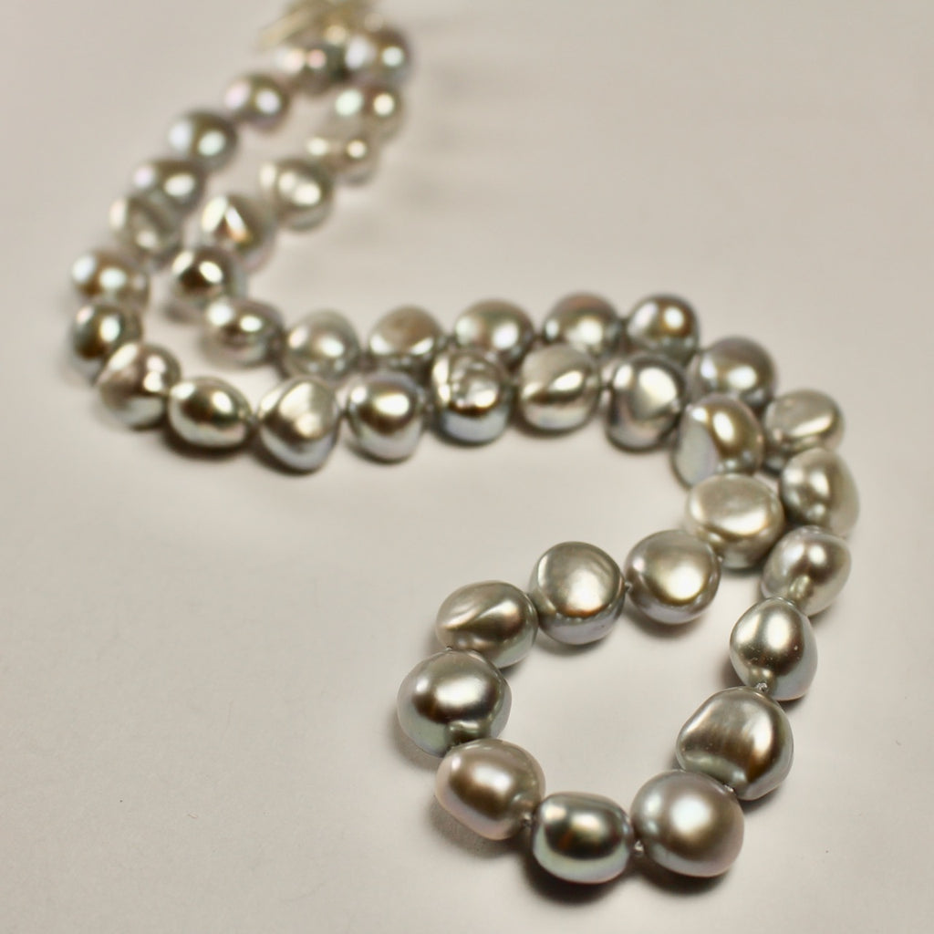 Wabi Sabi Small Grey Baroque Pearl Necklace