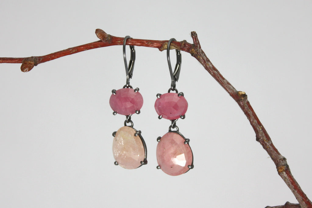 Wabi Sabi Gemstone Dangle Earrings