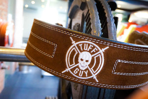 Powerlifting Belt - Double Prong - Brown Suede