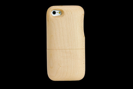 Real Wood Case for iPhone 5 KAEDE Maple/Plain