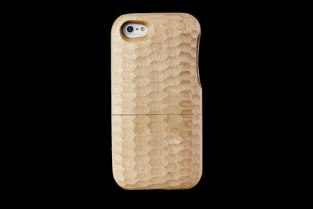 Real Wood Case for iPhone 5 Layered Solid Wood Maple-Walnut/Plain