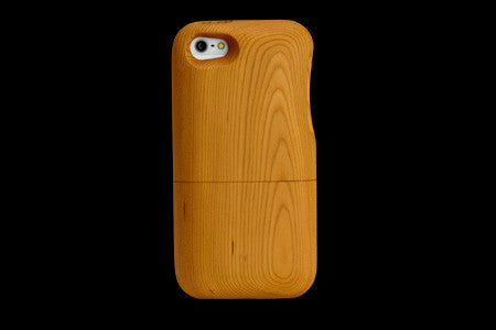 Real Wood Case for iPhone 5 ICHII Japanese Yew/Plain