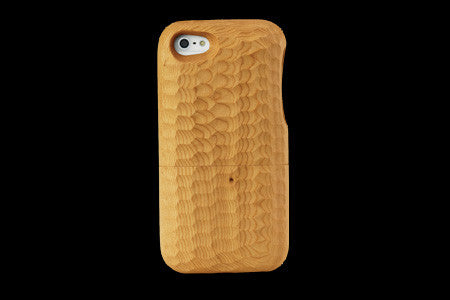 Real Wood Case for iPhone 5 ICHII Japanese Yew/Carved