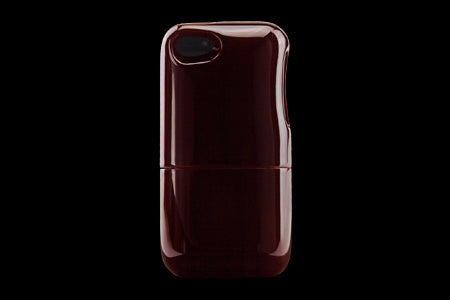 Real Wood Case for iPhone 5 Shunkei Red/Plain