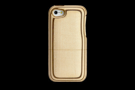 Real Wood Case for iPhone 5 Natural Black dye SAKURA/Carved