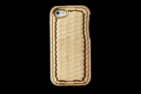 Real Wood Case for iPhone 5 Natural Black dye SAKURA/Plain