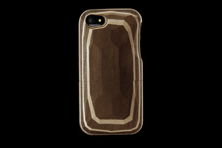 Real Wood Case for iPhone 5 Layered Solid Wood Walnut-Maple Five Layers/Carved