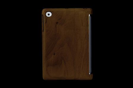 Real Wood Case for iPad mini KURUMI Walnut/Plain