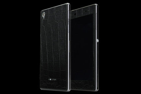 THE LEATHER SKIN Crocodile for Xperia Z1 (Front x Back Set)