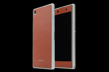 THE LEATHER SKIN for Xperia Z (Front x Back Set)