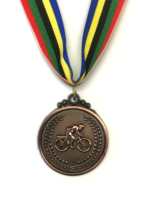 M6 Bronze Bicycle Medal 5cm Diameter