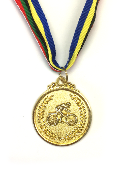 M6 Gold Bicyle Medal 5cm Diameter
