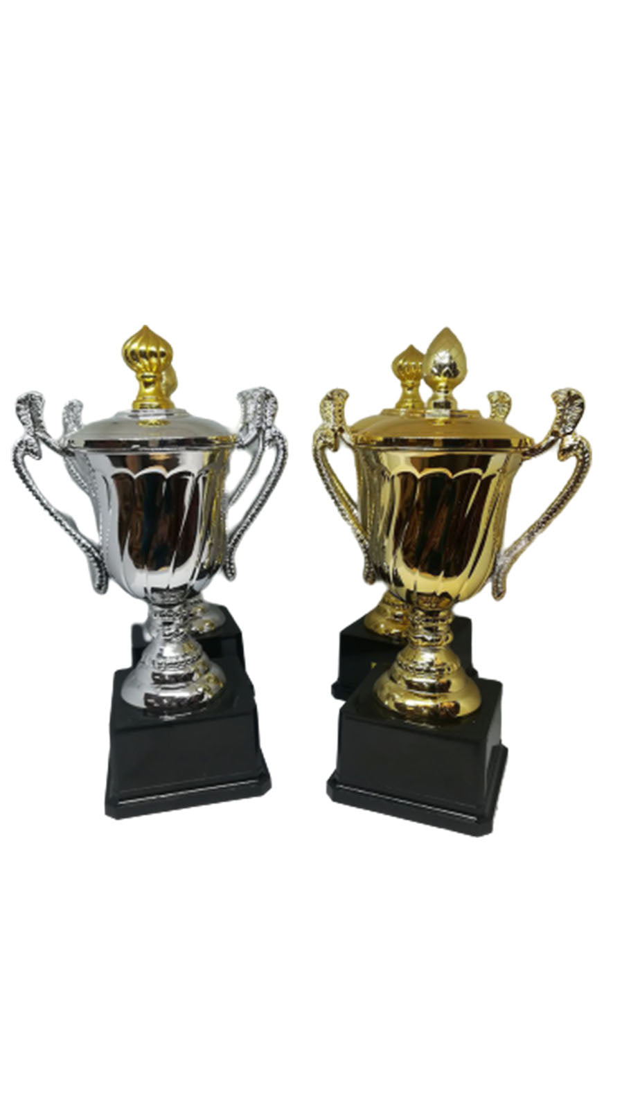 S01 - Plastic Cup Trophy With Black Base