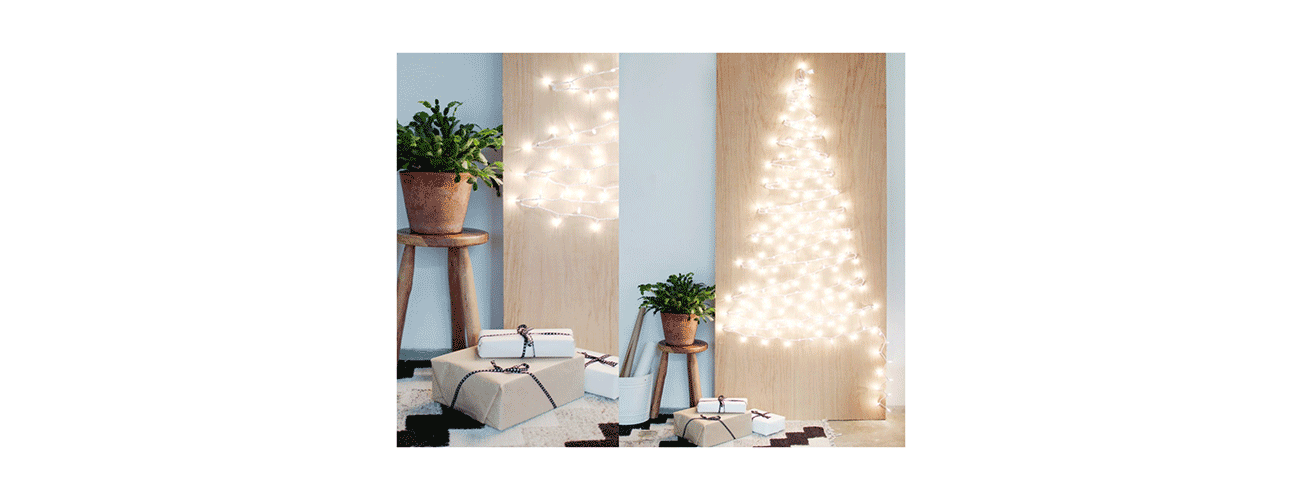 DIY String Light Christmas Tree