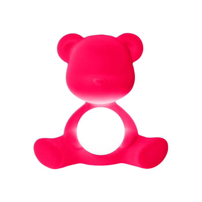 Qeeboo Teddy Girl Lamp Velvet Finish with Rechargeable LED