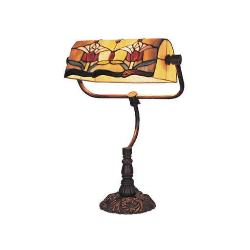 Tulip Bankers Tiffany Table Lamp