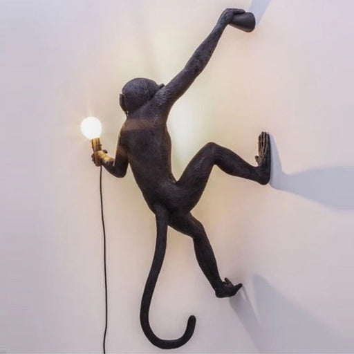 Seletti Wall Hanging Monkey Light Black | Lefty and Righty-Outdoor Safe