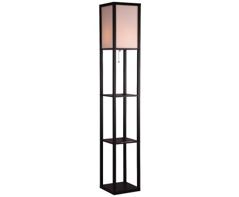 Shelf Floor Lamp - Shade Diffused Light Source with Open-Box Shelves Warm