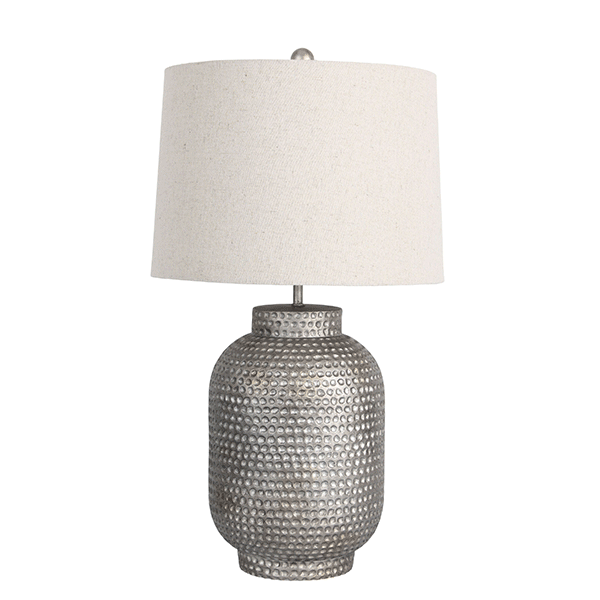 Palma Beaten Silver Table Lamp
