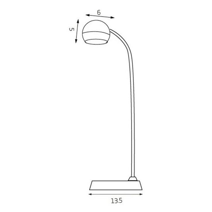 Inbuilt LED Touch Button Gooseneck Desk Lamp - Dual Power