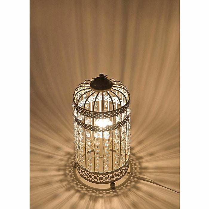 Harmony White cage Table Lamp